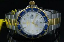 New Invicta Men Pro Diver COIN EDGE Bezel Silver DialS.S Two Tone Bracelet Watch