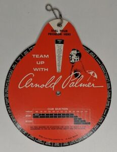 1966 Team Up With Arnold Palmer Problem Solver Training Golf Club Selector Dial