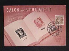 FRANCE MK 1946 SALON PHILATELIE CERES MAXIMUMKARTE CARTE MAXIMUM CARD MC c7753