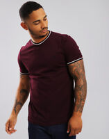 Fred Perry Tipped T-Shirt Deep Mahogany