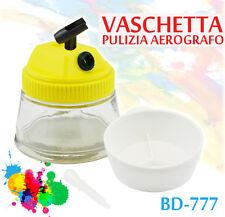 VASCHETTA PULIZIA PORTA AEROGRAFI AEROGRAFIA VETRO PROFESSIONALE FENGDA BD-777