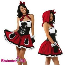 Ladies Halloween Red Riding Hood Costume Adult Girls Full Outfits Fancy Dress