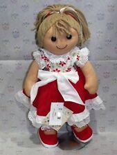 My Doll Bambola abito fiori colorati gonna rossa balza pizzo. New 2019 42 cm.