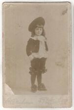 PORTSMOUTH NEW HAMPSHIRE Cabinet Card PHOTO Photograph CHILD Costume UNIFORM NH