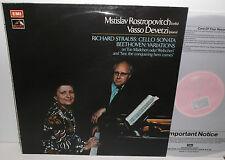 ASD 3066 R Strauss Cello Sonata & Beethoven Variations Rostropovich & Devetzi