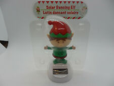 Solar Powered Dancing Bobblehead Christmas Elf Toy Merry Christmas NEW Sealed