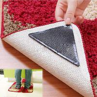 4pc Rutschfeste Teppichunterlage Antirutschmatte Teppich Gleitschutz Antirutsch#