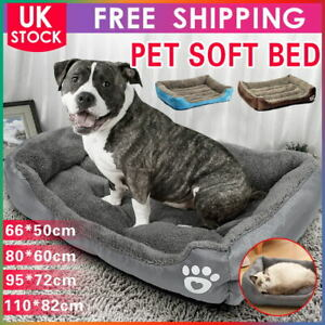 Large Dog Bed Pet Cushion Beds House Soft Warm Kennel Blanket Nest Padded Mat