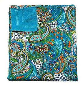 Tropicana Blanket Cotton Vintage Kantha Quilts Bedding Bohemian Bedspread B