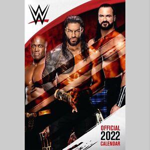 WWE Men Wrestling 2022 A3 Wall Calendar