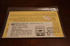 Miller Advertising HO Decal  #L-611 SCL/L&N Family Lines System Grey Diesel Swit