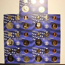7 2000-S SAGAGAWEA DOLLAR PROOFS & 7 KENNEDY HALF PROOFS + DIME NICKEL CENT