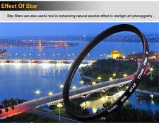 62mm 8 point  star filter HD GLass, Black Almite Frame