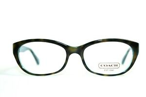 NEW COACH HC 6041 5116 KRISTIN TORTOISE TEAL AUTHENTIC EYEGLASSES RX 51-16-135MM