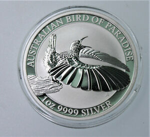 2018 Bird of Paradise .999 silver 1 oz Proof coin Perth Mint in capsule