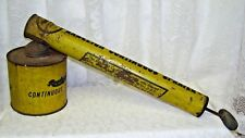 Antique Rawleigh Continuous Sprayer Yellow Metal with wood handle