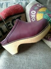 Urban Outfitters Marigold Platform Clog Mule Leather by BDG Size 10 BOHO