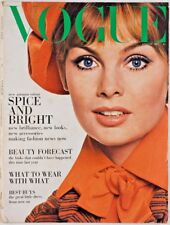 JEAN SHRIMPTON August 1967 Vogue magazine VTG sixties fashion UK Rare 1960s 60's