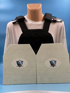 Body Armor Vest with 2 Bullet Proof Plates NIJ IIIA / UL 3 FREE SHIPPING