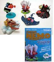 Set 5 Trading Figuras Diorama Nemo Originales Disney Pixar TOMY Japón