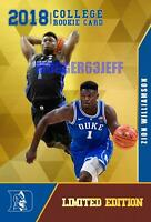 ZION WILLIAMSON 2018 GOLD LIMITED ED FIRST EVER ROOKIE GEMS ROOKIE CARD DUKE!