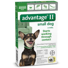 Bayer Advantage II Small Dogs 3-10 Lbs  6pack Topical Flea & Lice Treatment