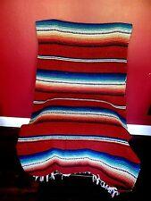 New Rio Bravo Blanket Southwest Serape Style Medium Weight! Mexican  Rust