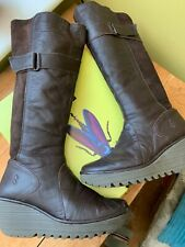 Fly London Brown Leather Boots, Size 38/5