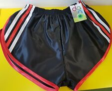 nailon Glanz Satén SPRINTER corto pequeño-xxxxl AÑOS 70 & AÑOS 80 retro , negro,