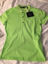 NWT RLX BY RALPH LAUREN  WOMEN SS POLO SOLID CITRUS LIME SIZE SMALL