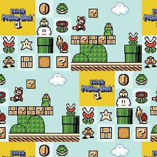 Nintendo Fabric - Super Mario Brothers 3 - Blue - 100% Cotton