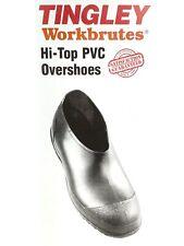 Tingley Workbrutes Men's Hi-Top PVC Overshoes 35111 Rubber Boots Multiple Sizes