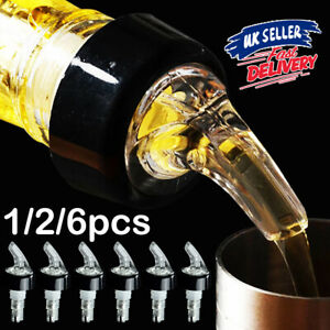 1/2/6x 30ml Shot Pourer Bottle Barware Tool Nip Measure Wine Liquor Spirit