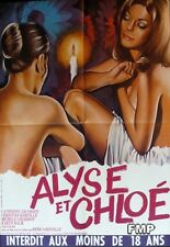 ALYSE AND CHOLE - X RATED - SEXY / NAKED WOMEN - ORIGINAL MEDIUM FRENCH POSTER