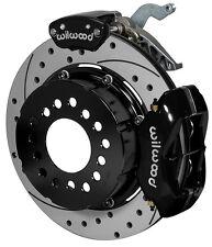 WILWOOD REAR DISC BRAKE & PARKING BRAKE KIT FOR GM C-CLIP ELIMINATORS,BLACK,DRLD