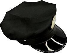 Casquette De Police Americaine Noire Reglable Deguisement Chapeau accessoires LG
