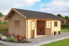 Gartenhaus 40 mm Blockhaus CAROLINE 605 x 410 cm mit Schlafboden LASITA MAJA