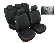 Black Eco Leather Full Set Tailored Seat Covers Skoda Octavia II / Mk2 2004-2013