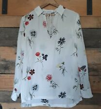 Equipment Femme Womens Size S Relaxed Fit 100% Silk Wild Flower Print Tunic Top