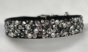 Dog Collar blinged out with Swarovski Crystals