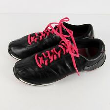 Nike Zoom MC Lea Sneakers Womens 6.5 37.5 Black Pink Leather Dance Fitness Shoes