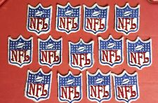 15 Lot Vintage NFL Collar Shield Jersey Sew On Hat Jacket Hoodie Patches Crests