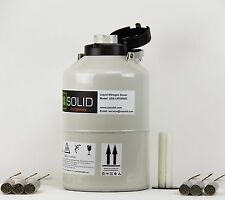 6 L Liquid Nitrogen Container LN2 Dewar Cryogenic Tank 6 Canisters U.S.Solid®