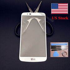 White new high quality Front Outer Lens Glass Screen for LG K10 LTE K430n 5.3""
