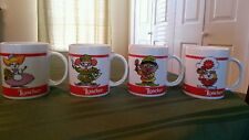 Elf  Coffee Mugs Cups Elves LOACKER Collectible  Ceramic Set Of 4 Made In Italy