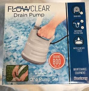 Bestway Flowclear Pool Drain Pump Maintenance Equipment 800 Gallon NEW 58261e