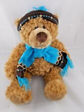"""Mary Meyer Plush Teddy Bear w/ Knit Hat & Scarf 14"""""""