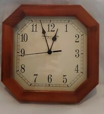 "Sterling & Noble wall clock wood grain""works great"""