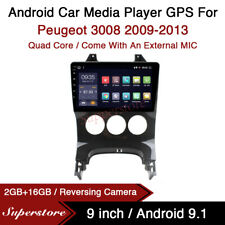"""9"""" Android 9.1 Car Stereo Media Player GPS Head Unit For Peugeot 308 2009-2013"""