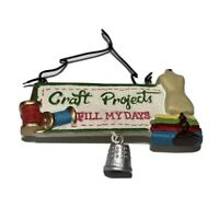 Christmas Ornament Craft Ceramic White Craft Projects Fill My Days 4 In.